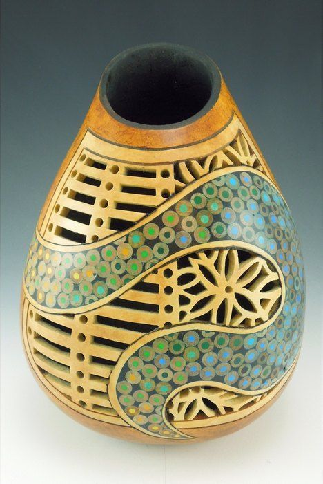 It's decorative gourd season! Check out this roundup of awesome dried gourd art.