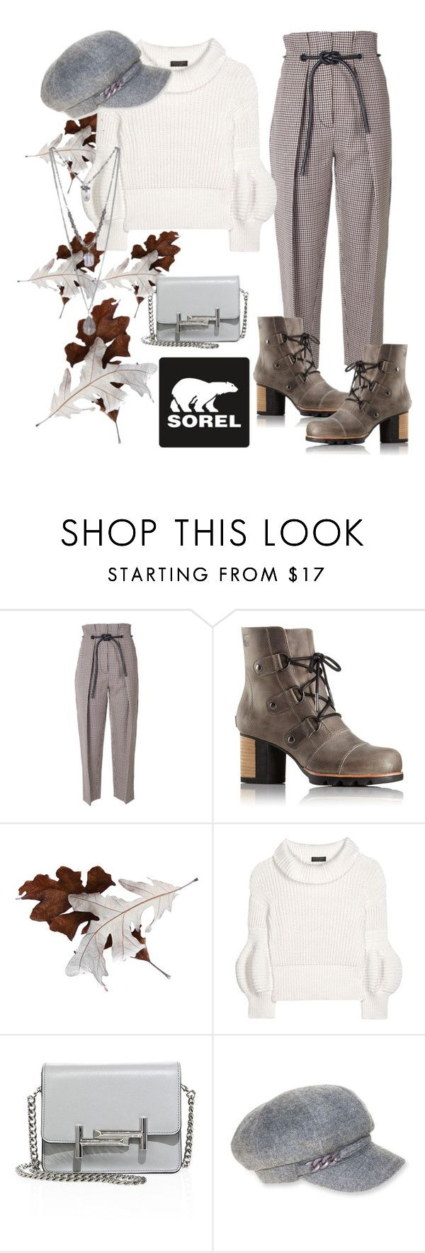 """""""Kick Up the Leaves (Stylishly) With SOREL: CONTEST ENTRY"""" by ghea-mareta ❤ liked on Polyvore featuring 3.1 Phillip Lim, SOREL, Burberry, Tod's, Nine West and sorelstyle"""