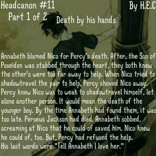 WHO IS POSTING PERCABETH DEATHS!? WHO WAS THE ONE WHO WROTE THESE!?