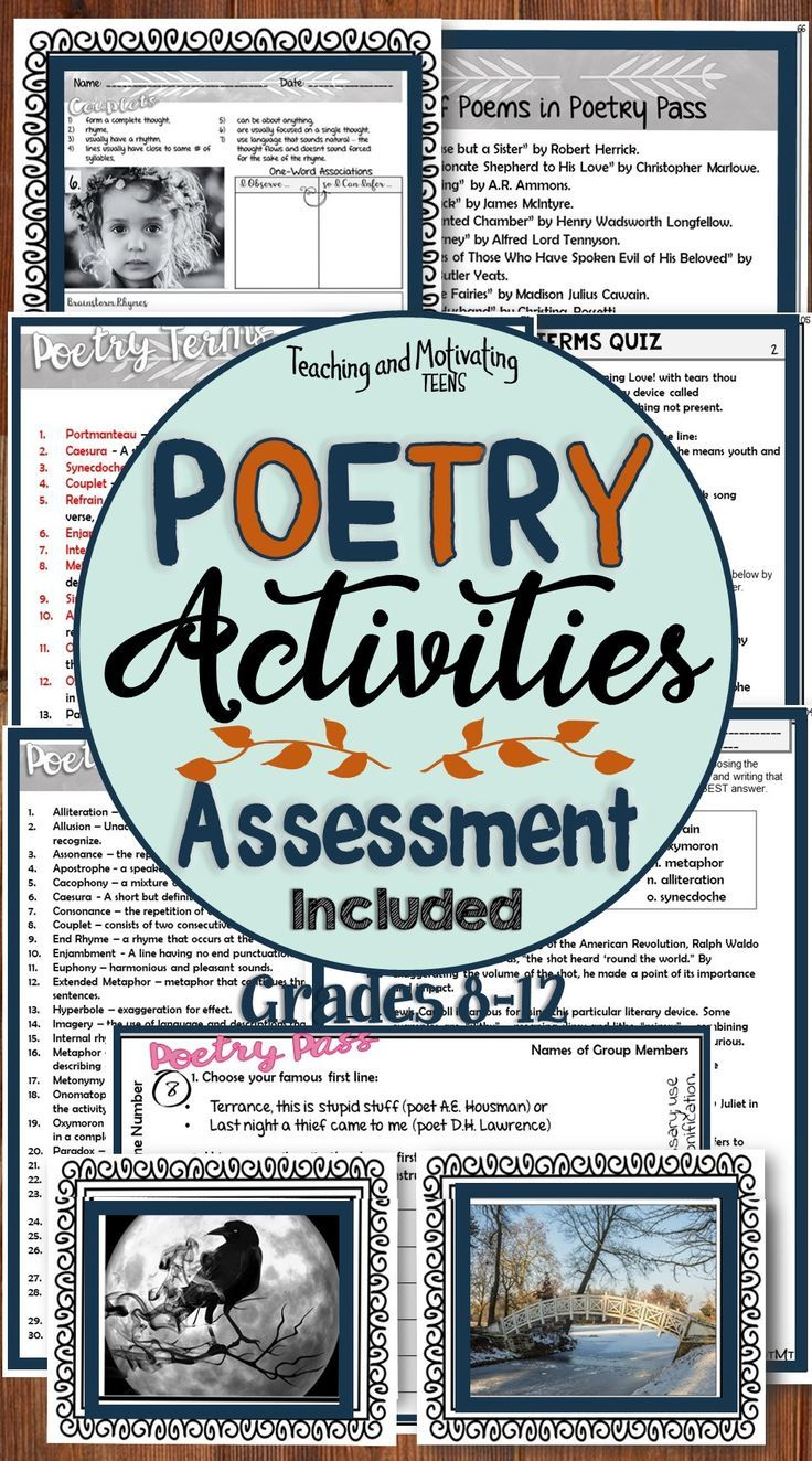 Creative Fun Poetry Activities Poetry Writing Poetry Activities Fun Poetry Activities Fun Poetry