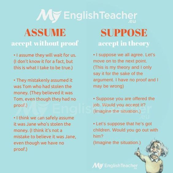 25 best Teaching images on Pinterest Education, English course - presume vs assume