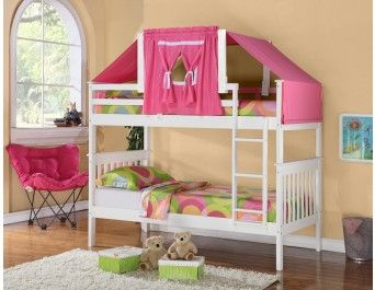 Twin/Twin Mission Bunk Bed White