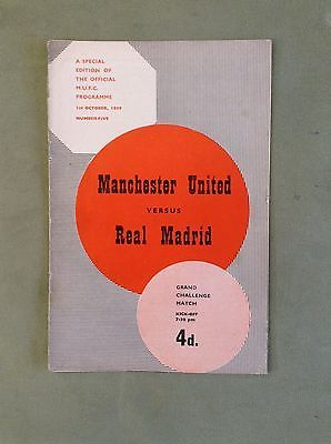 Manchester #united v real madrid programme oct 1959 #grand #challenge match ,  View more on the LINK: 	http://www.zeppy.io/product/gb/2/142131938413/