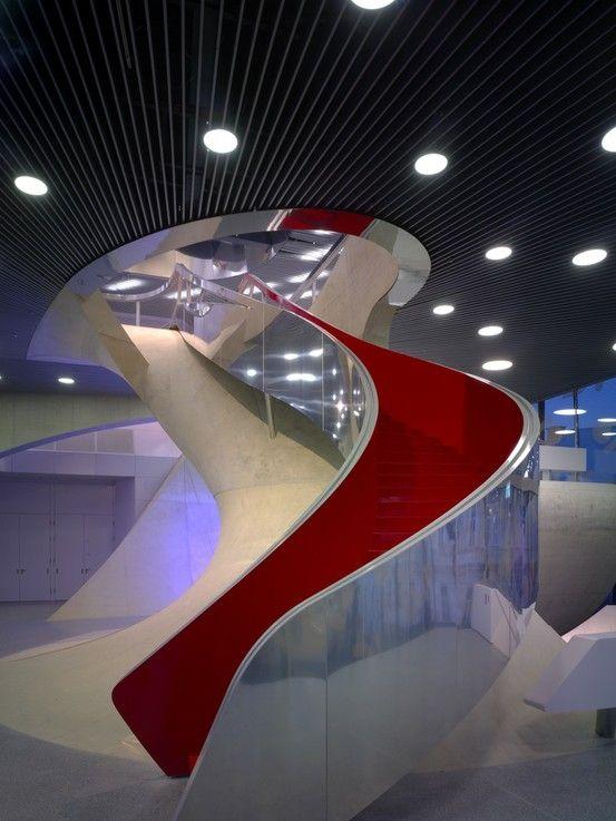 Music Theatre, UNStudio, futuristic design, futuristic architecture, future architecture, futuristic interior, modern interior, red, silver by FuturisticNews
