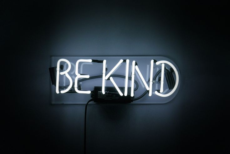 """Be Kind Neon Sign  Give yourself a reminder.... available at noblegasind.com 10"""" Wide 