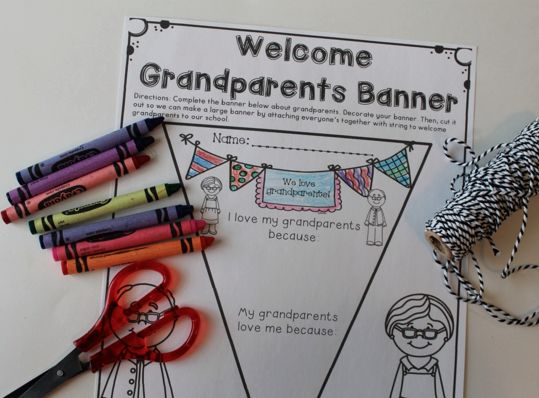 Grandparents Day school celebration banner - This would be great to hang in the hall to celebrate and welcome grandparents to the school.