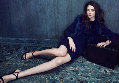 Navy is the new black. By Carlyle Routh, for Pink Tartan