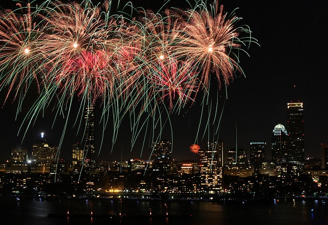 Fireworks - Boston by jiangning, via Flickr