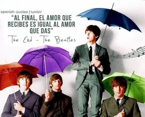 """Curiosidades de la musica: """"al final el amor que recibes es igual al amor que das"""" fue la ultima frase de la ultima cancion del ultimo album de the beatles"""