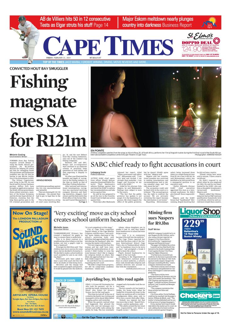 News making headlines: Fishing magnet sues SA for R121m