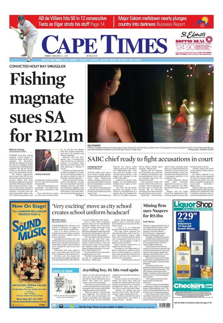 News making headlines: Fishing magnet sues SA for R121m
