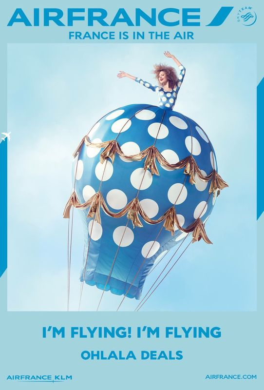 "Nouvelle vague d'affiches "" France is in the air "" par Air France ❤️❤️❤️ La compagnie aérienne Air France a dévoilé une deuxième vague d'affiches « France is in the air », créée par l'agence BETC .                                                                                                                                                                                 More"