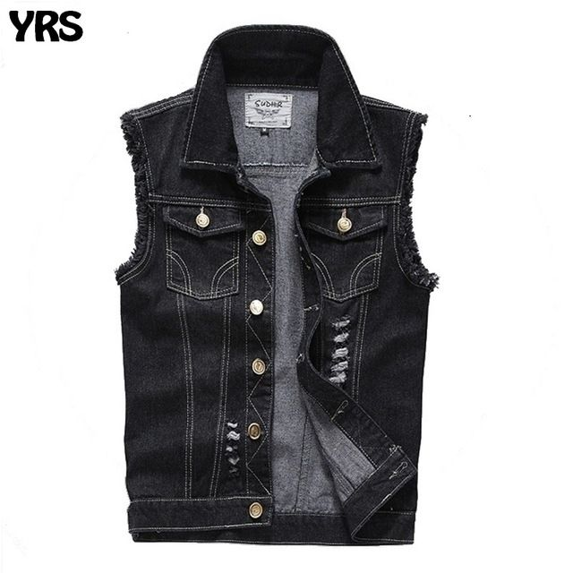 Good price Mens vest fashion cotton cowboy sleeveless denim waistcoat slim short style chaleco hombre size S-5XL just only $31.50 with free shipping worldwide  #jacketscoatsformen Plese click on picture to see our special price for you