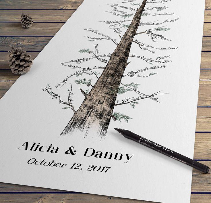 Wedding Guest Signing Tree: Best 25+ Wedding Fingerprint Tree Ideas On Pinterest