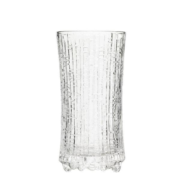 Ultima Thule sparkling wine, clear, set of 2, by Iittala. Designed by Tapio Wirkkala.