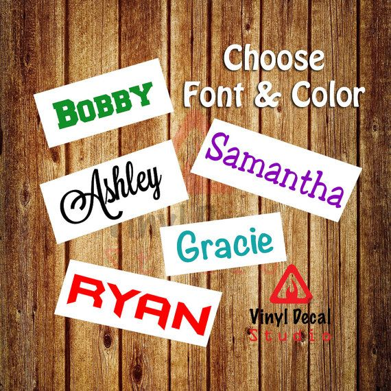 Name Sticker  Personalized Name Decal  Custom by VinylDecalStudio