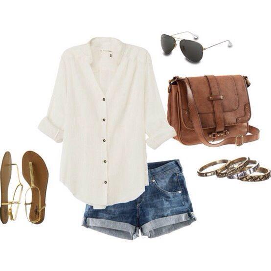 Lovely summer outfit - longer shorts