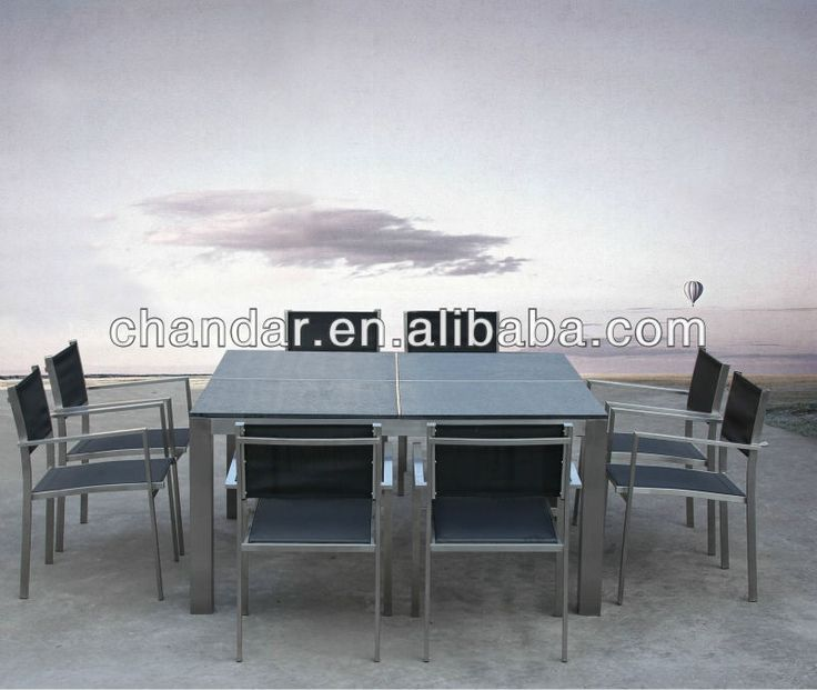 Square Granite Top Dining Table,Granite Dining Table,Stainless Steel Dining Table