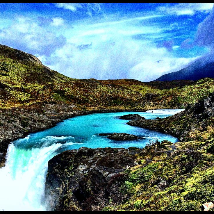 Cascading Waters - Torres del Paine, Patagonia, Chile