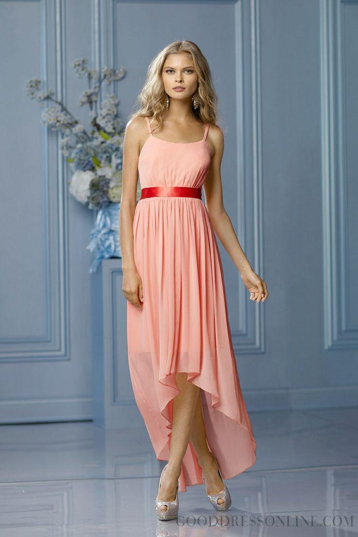 Shinning Straps A-line Chiffon Bridesmaid Dresses