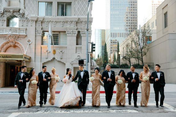Gold Wedding at the Millennium Biltmore Hotel (Photo by Kevin Le Vu Photography)