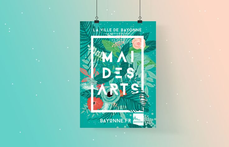 Affiche / Poster Mai des Arts pour la ville de Bayonne - Studio Waaz - graphic design poster