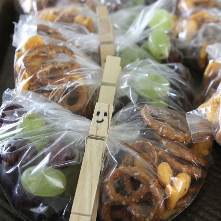 Healthy Classroom Snack - Butterfly Snack Packs