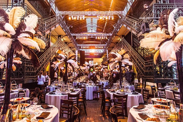Veilinghal verandert in ballroom uit de jaren '20 | Auction hall turns into a ballroom in 'Golden Twenties' theme | #event