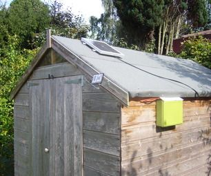 Ever wanted to Be Green? Well now you can! This Instructable will show you how to Run your Shed, on a solar panel!