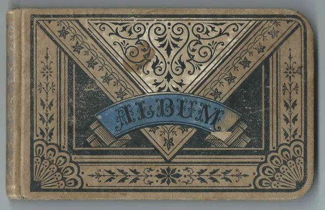"1880s Autograph Album of Rebecca Ellen Payne, ""Ella"", of New Castle, Indiana"