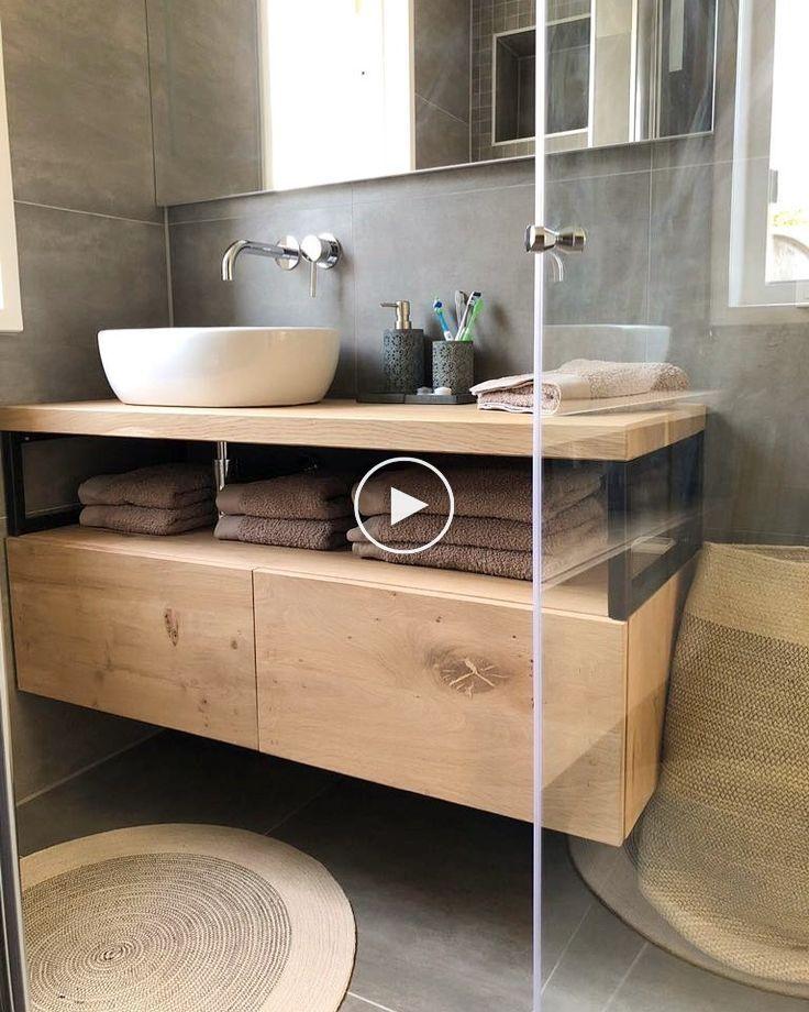 Industrielle Badezimmermobel Mit Eiche Und Stahl Badmobel