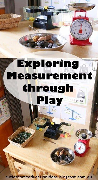 Exploring Measurement through play - Mass. Ideas on setting up the environment, what resources to use and how vocabulary development helps build understanding.