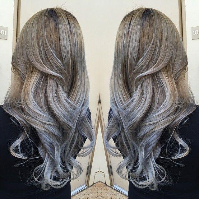 Beautiful hair color.