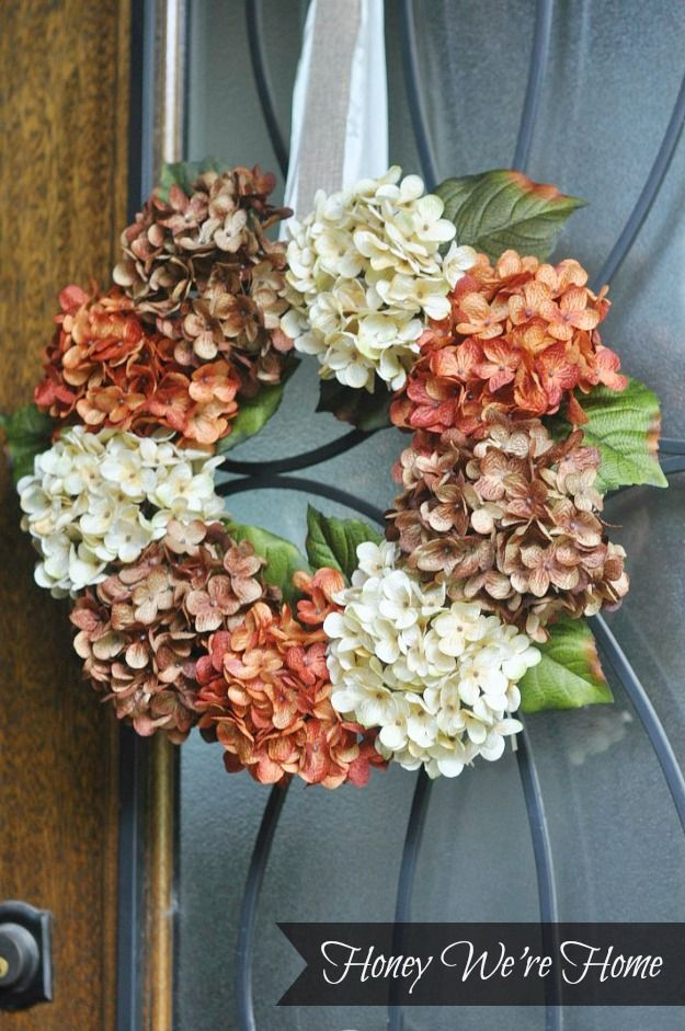 Are you ready for a super quick and easy DIY project?  A faux hydrangea floral wreath is in order!  I made it with just a couple of inexpen...