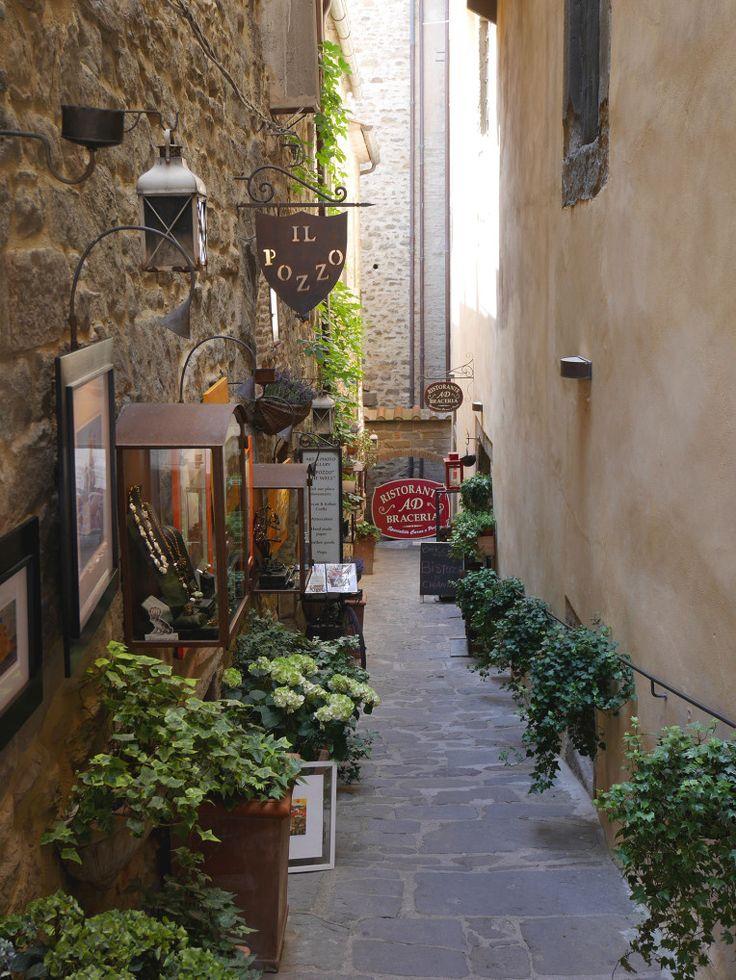Italian restaurant Cortona, Arezzo, Tuscany/Toscana, Italy/Italia