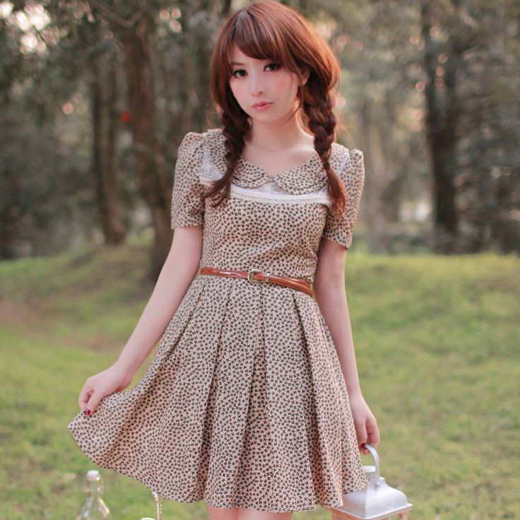 79 yuan! Summer sale! The new women's dress in chiffon dress was thin floral dress with belt - Taobao
