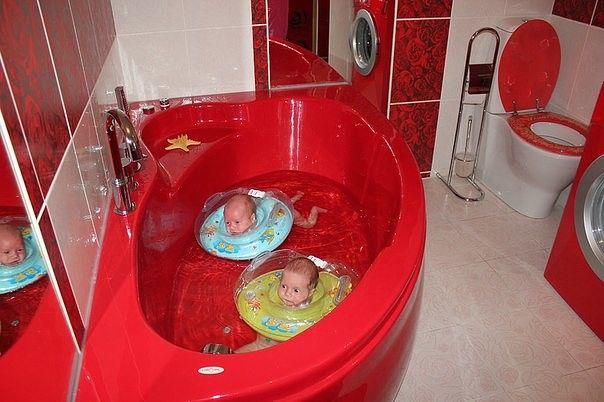 Водные процедуры утят...) #дети