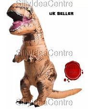 Adult Inflatable T Rex Jurassic Dinosaur fancy dress stag party costume 90s