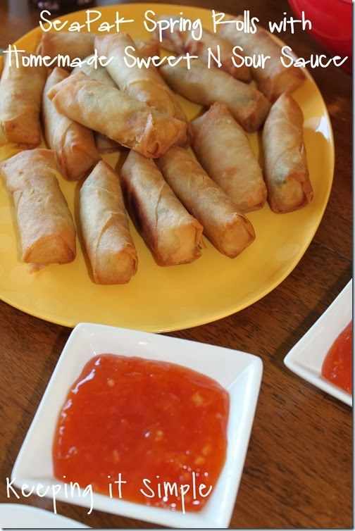... it Simple: SeaPak Spring Rolls with Homemade Sweet n Sour Sauce