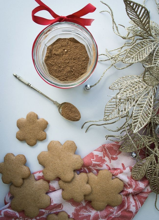 This Healthy Gingerbread recipe comes with a lovely spice mix that makes a gorgeous Christmas gift. Recipe caters for gluten, dairy, nut-free and vegan.