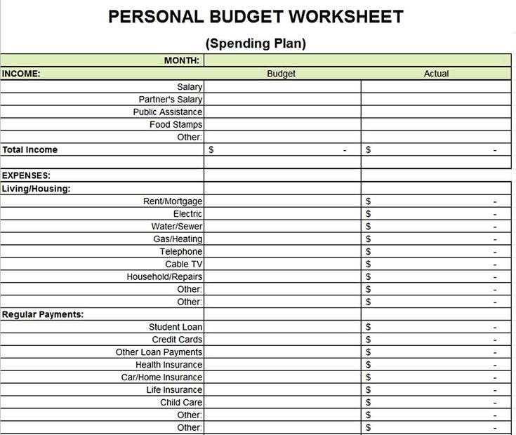 Printable Budget Worksheets Template In 2020 Budgeting Worksheets Budget Printables Printable Budget Worksheet