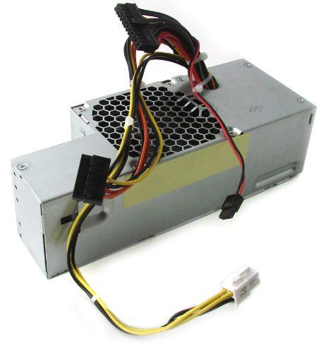 Genuine DELL 235w Power Supply For Optiplex 760, 780 and 960 Small Form Factor Systems Dell Part Numbers: FR610, PW116, RM112, 67T67 R224M, WU136 Model Numbers: F235E-00, L235P-01, H235P-00, H235E-00. 1x 4-Pin ATX Power Connector. Output: 235w Max. 1x SATA Power Connector. Connectors: 1x 24-Pin Mini ATX Power Connector. 1x Slimline SATA Power Connector. Input: 100-240V. Please be advised that the revision (rev) # represented in the photo, does not necessarily portray the revision #...