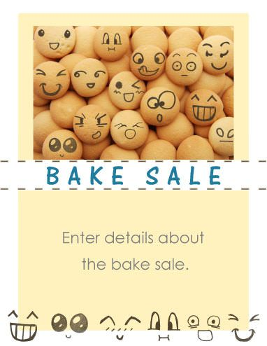 The 21 Best Images About Bake Sale Flyers On Pinterest | Cartoon