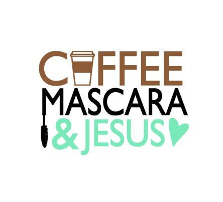 This Coffee Mascara & Jesus design is an instant DIGITAL DOWNLOAD file to be cut out with an electronic cutting machine that accepts one of the