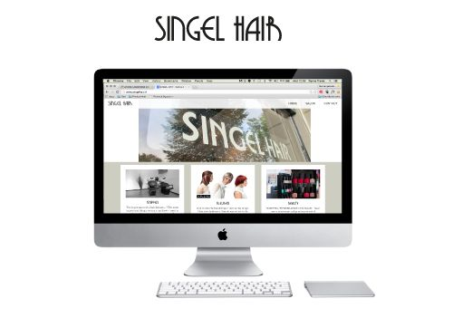 Singel Hair webdesign