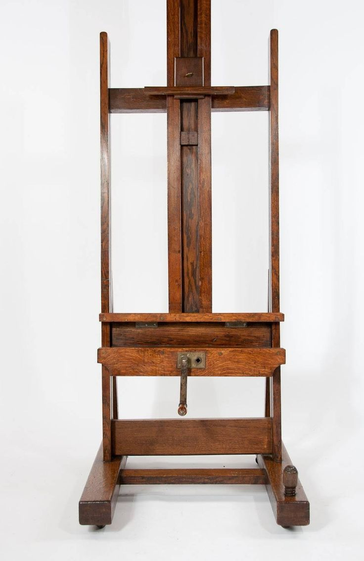 Large Victorian Oak Easel Winsor and Newton | From a unique collection of antique and modern easels at https://www.1stdibs.com/furniture/more-furniture-collectibles/easels/