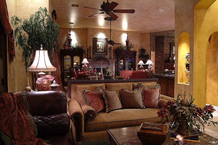 Old world style decorating ideas tuscan old world - Italian inspired living room design ideas ...