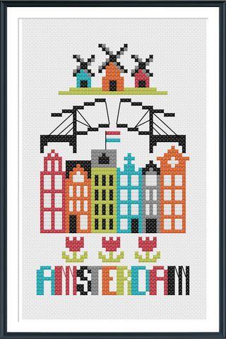 Amsterdam Cross Stitch Chart Instant Download