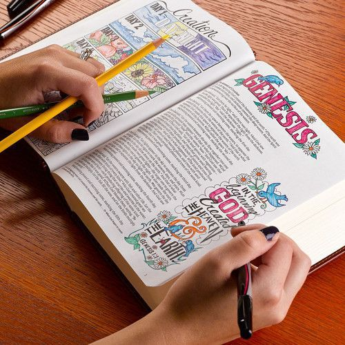 creative journaling Bible KJV Which journaling Bible should you get? Making a decision will be easier once you answer these questions: Which version do you prefer? Do you want some illustrated pages for coloring and some for drawing or lettering ? #Biblejournaling