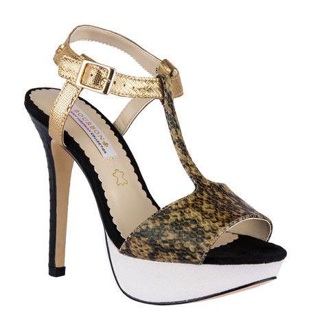 Bourbon Amy Huberman - Briget Jones Sandals Snake Multi -#prom